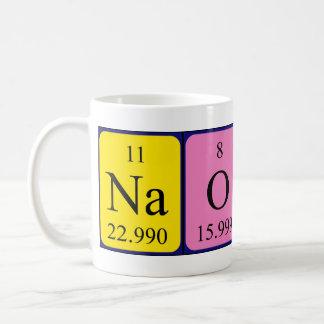 Taza del nombre de la tabla periódica de Naoki