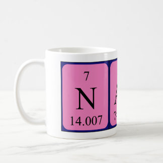 Taza del nombre de la tabla periódica de Nash
