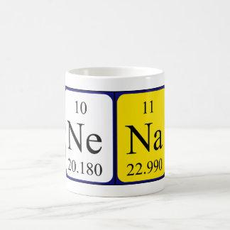 Taza del nombre de la tabla periódica de Nena