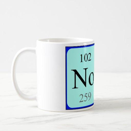 Taza del nombre de la tabla periódica de Nora