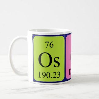 Taza del nombre de la tabla periódica de Óscar