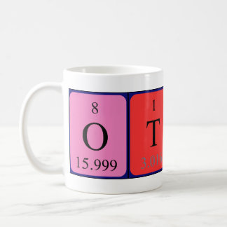 Taza del nombre de la tabla periódica de Ottis