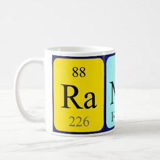 Taza del nombre de la tabla periódica de Randy