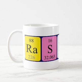 Taza del nombre de la tabla periódica de Rashid