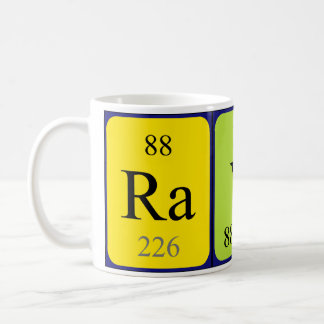 Taza del nombre de la tabla periódica de Rayna