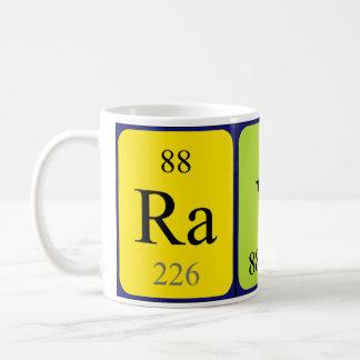 Taza del nombre de la tabla periódica de Rayne
