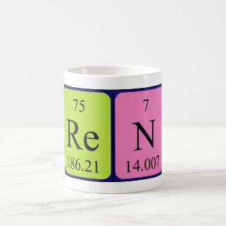 Taza del nombre de la tabla periódica de Ren