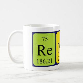Taza del nombre de la tabla periódica de Renata