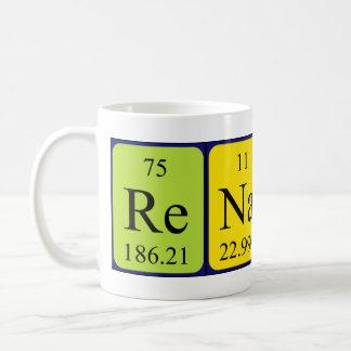 Taza del nombre de la tabla periódica de Renato