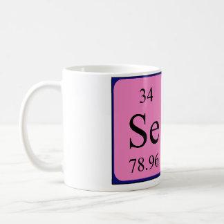 Taza del nombre de la tabla periódica de Sela