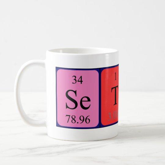 Taza del nombre de la tabla periódica de Seton