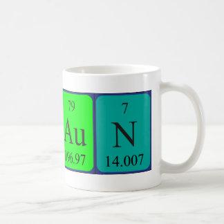 Taza del nombre de la tabla periódica de Shaun