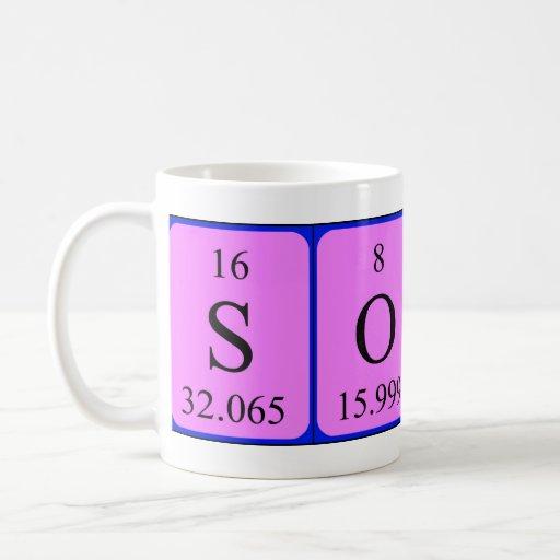 Taza del nombre de la tabla periódica de Sonali