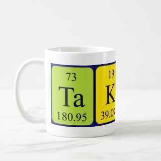 Taza del nombre de la tabla periódica de Takeru