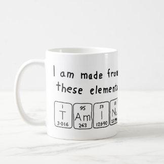 Taza del nombre de la tabla periódica de Tamina