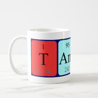 Taza del nombre de la tabla periódica de Tamino