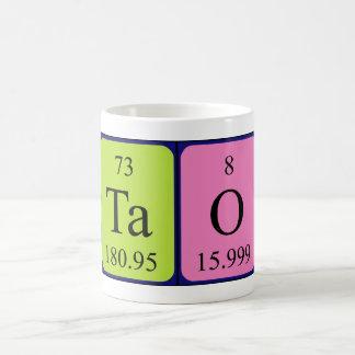 Taza del nombre de la tabla periódica de Tao