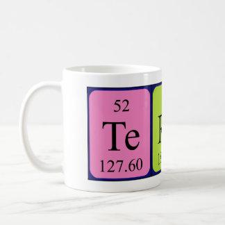 Taza del nombre de la tabla periódica de Terese