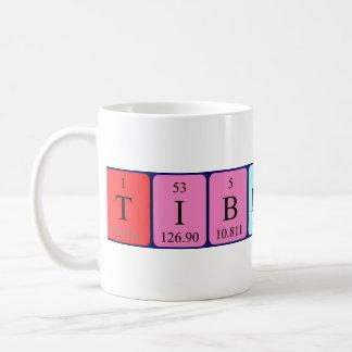 Taza del nombre de la tabla periódica de Tiberius