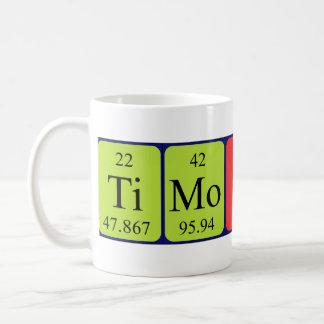 Taza del nombre de la tabla periódica de Timothy