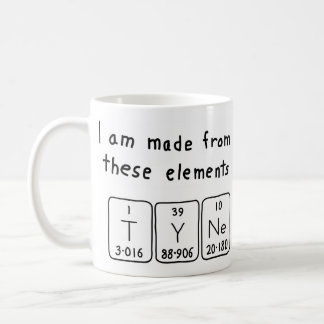 Taza del nombre de la tabla periódica de Tyne