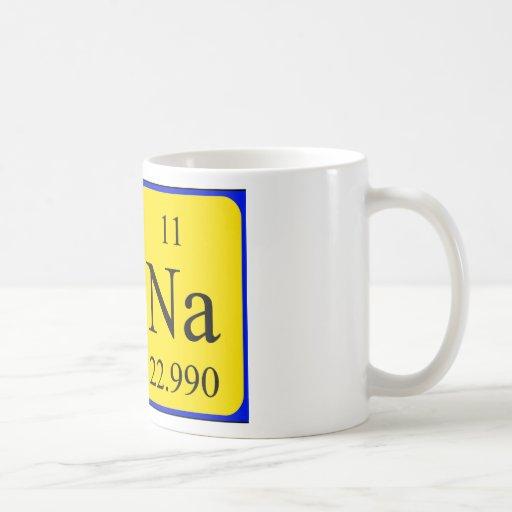 Taza del nombre de la tabla periódica de Una