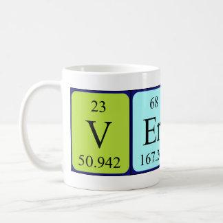 Taza del nombre de la tabla periódica de Verner