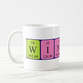 Taza del nombre de la tabla periódica de Winfred