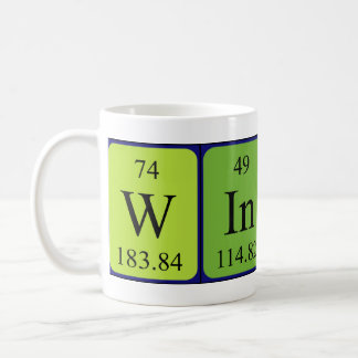 Taza del nombre de la tabla periódica de Wingate
