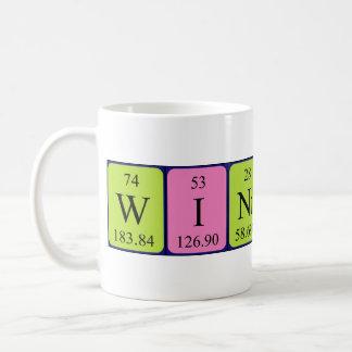 Taza del nombre de la tabla periódica de Winifred