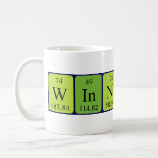 Taza del nombre de la tabla periódica de Winnifred
