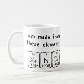 Taza del nombre de la tabla periódica de Xenos