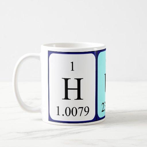 Taza del nombre de la tabla periódica del Hun