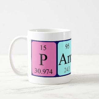 Taza del nombre de la tabla periódica del Pamina