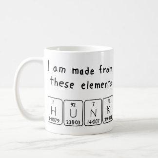 Taza del nombre de la tabla periódica del trozo