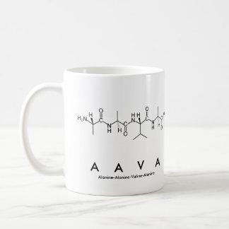 Taza del nombre del péptido de Aava
