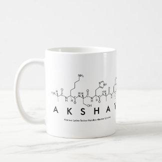 Taza del nombre del péptido de Akshay