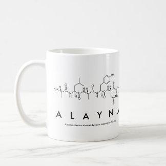 Taza del nombre del péptido de Alayna