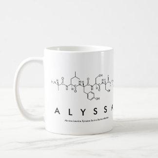 Taza del nombre del péptido de Alyssa