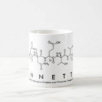 Taza del nombre del péptido de Annette