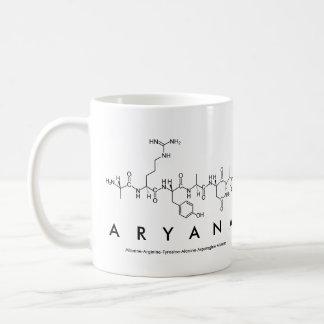 Taza del nombre del péptido de Aryana