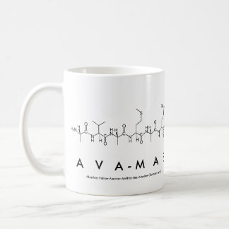 Taza del nombre del péptido de Ava-Mae