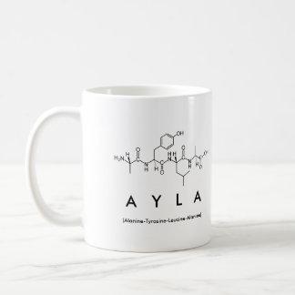 Taza del nombre del péptido de Ayla