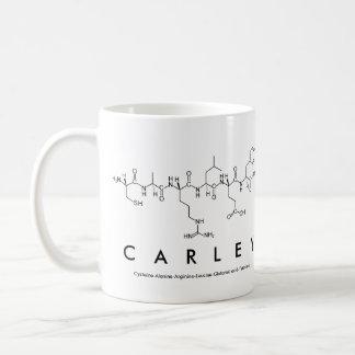 Taza del nombre del péptido de Carley