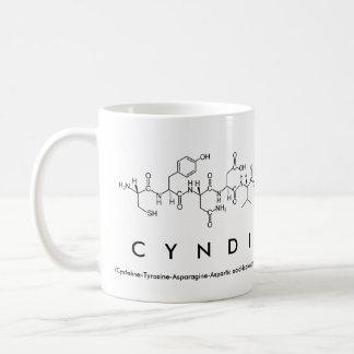 Taza del nombre del péptido de Cyndi