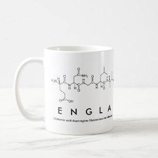 Taza del nombre del péptido de Engla