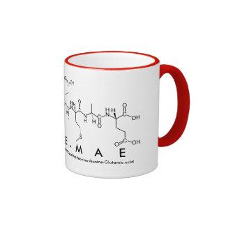 Taza del nombre del péptido de Evie-Mae