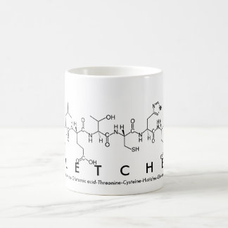 Taza del nombre del péptido de Fletcher