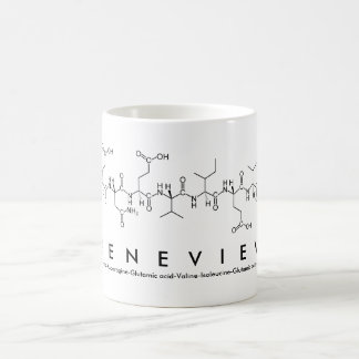 Taza del nombre del péptido de Genevieve