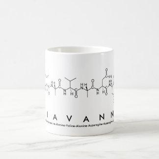 Taza del nombre del péptido de Giavanna
